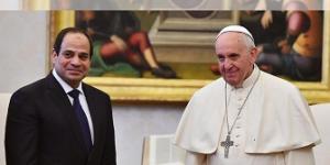 البابا فرنسيس يستقبل رئيس جمهورية مصر العربية